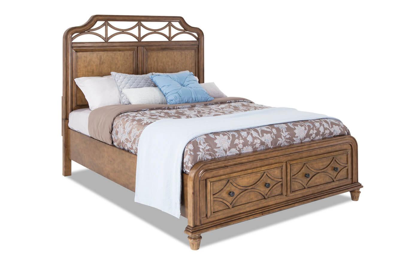 Mystic Bay Honey King Storage Bed