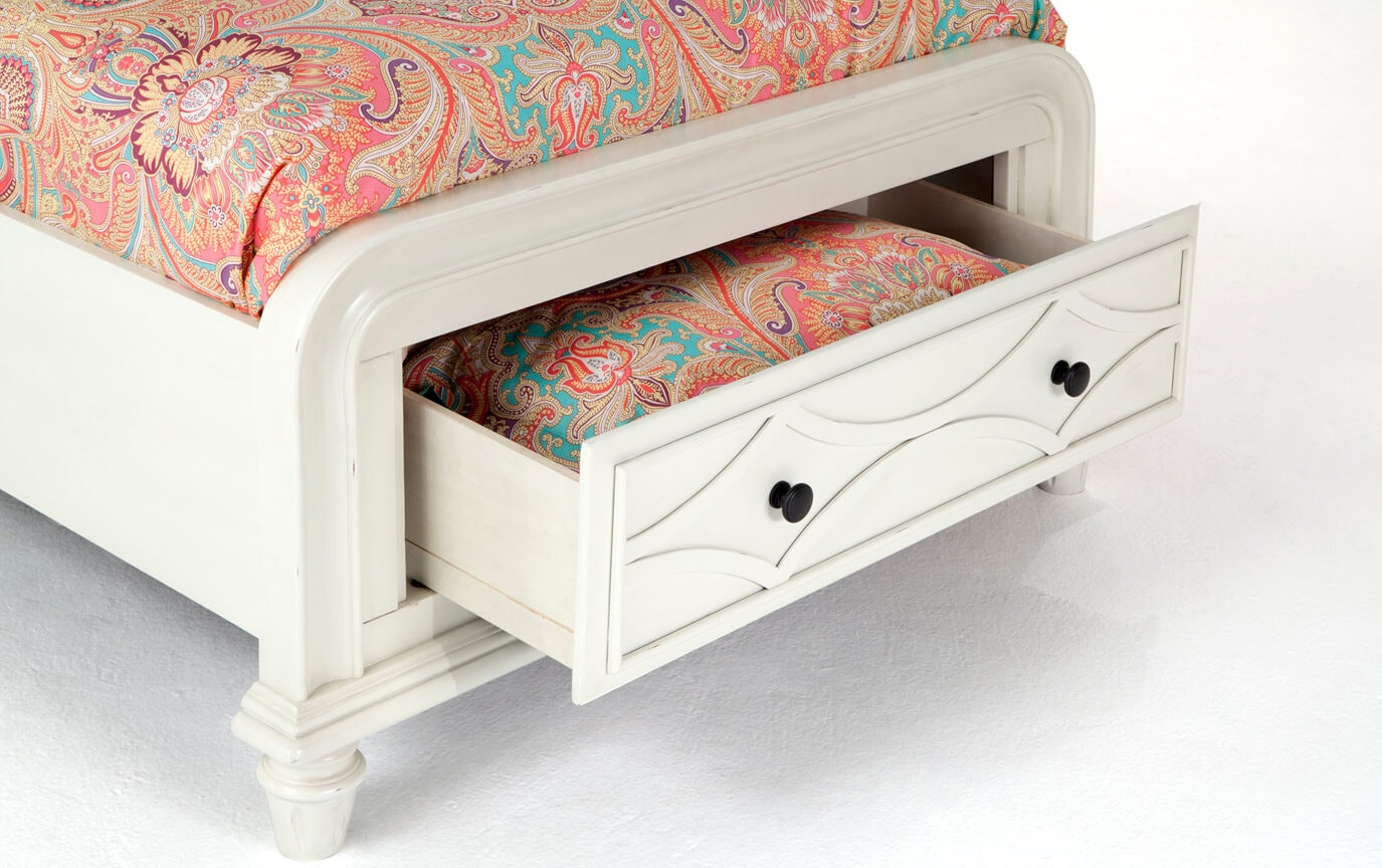 Mystic Bay Twin White Storage Bedroom Set