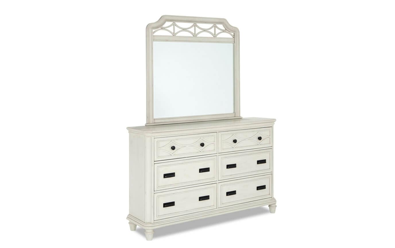 Mystic Bay Queen White Storage Bedroom Set