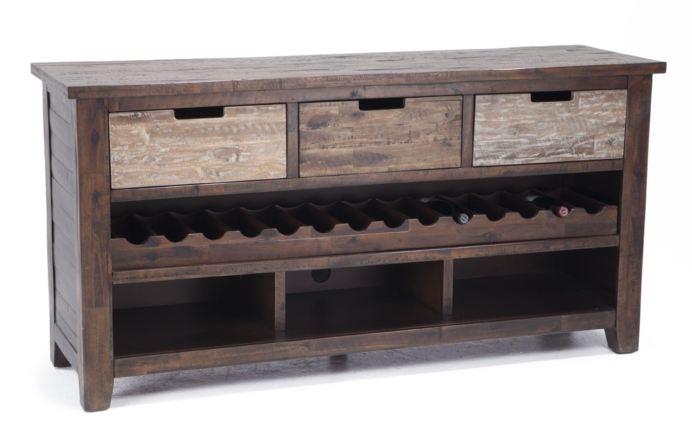 3 Drawer Relic Cabinet with Wine Storage