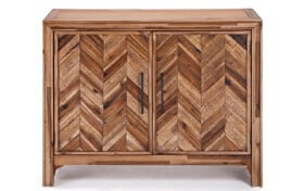 Two Door Chevron Cabinet
