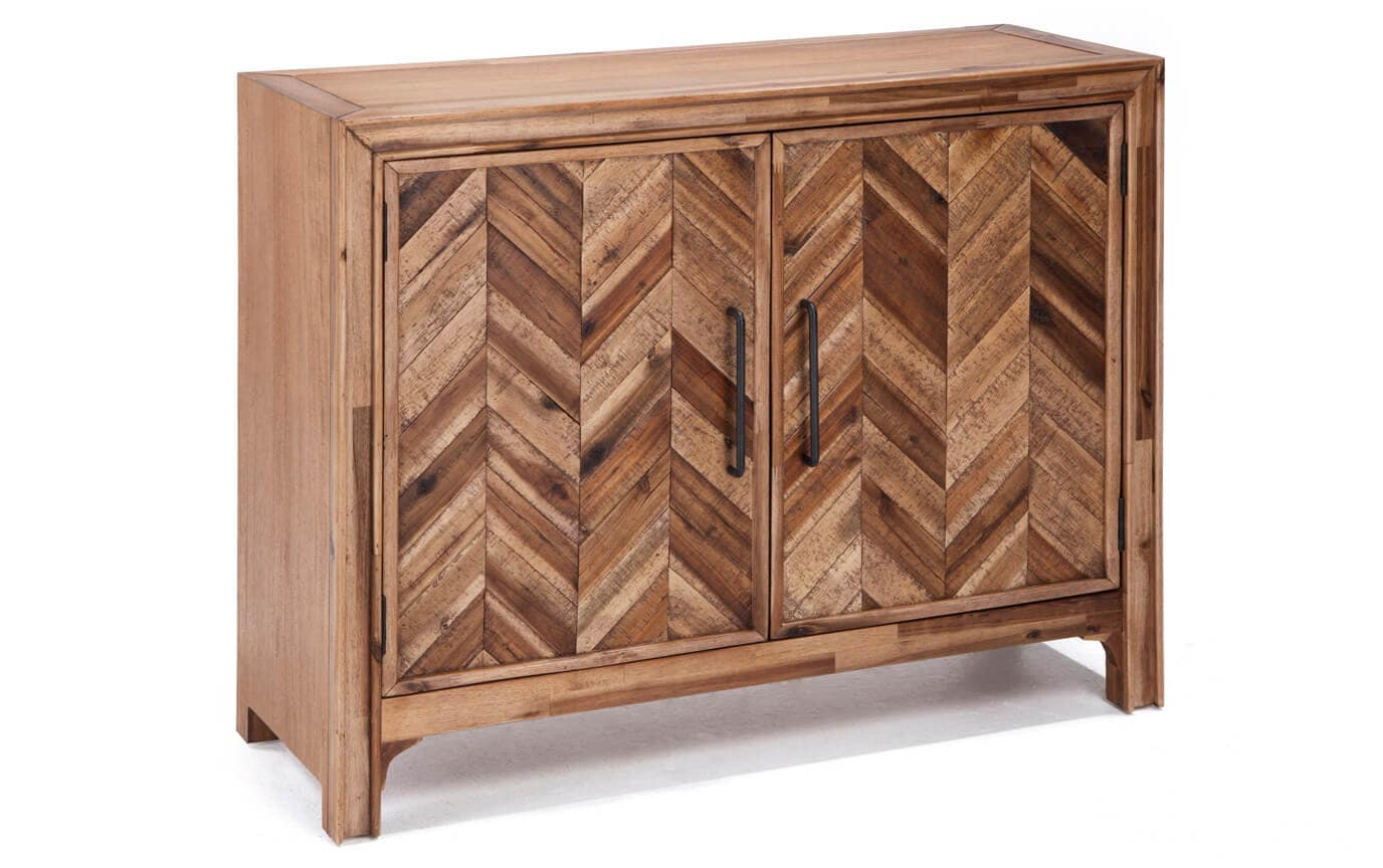 2 Door Chevron Cabinet