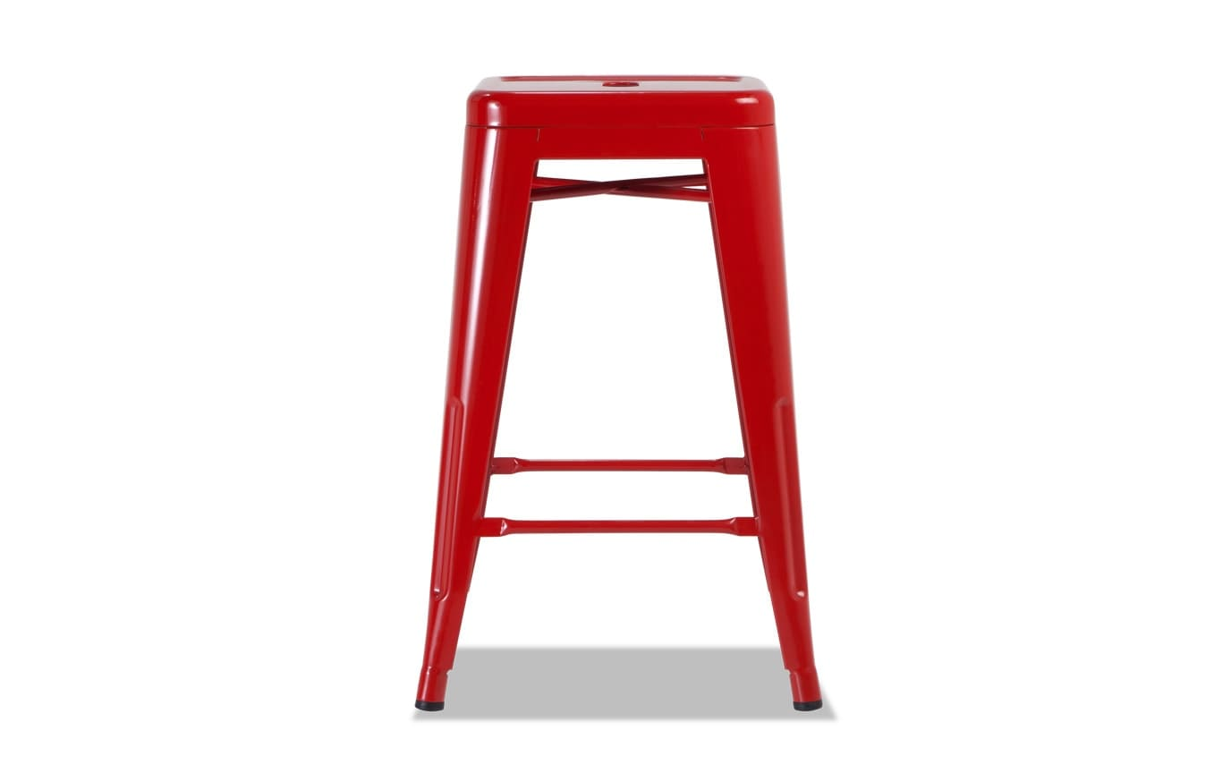 Red Industrial Stool