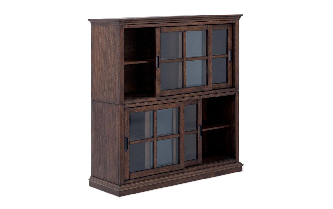 Trayton 2 High Sliding Door Bookcase