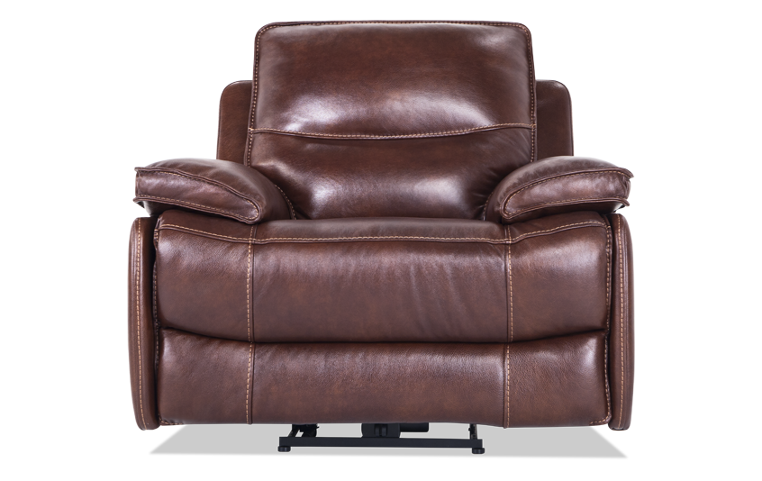Zeus Leather Power Recliner