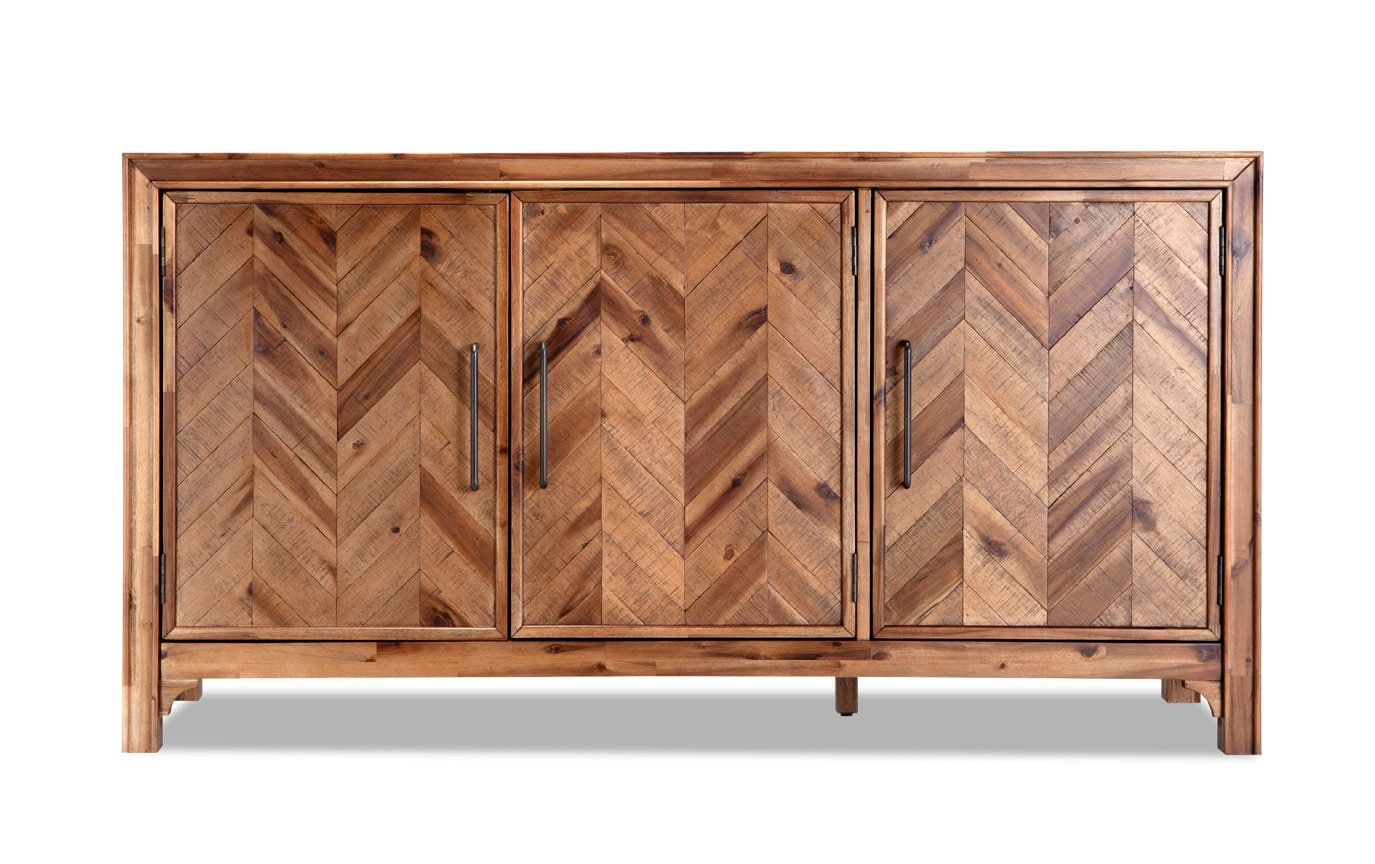 3 Door Chevron Cabinet