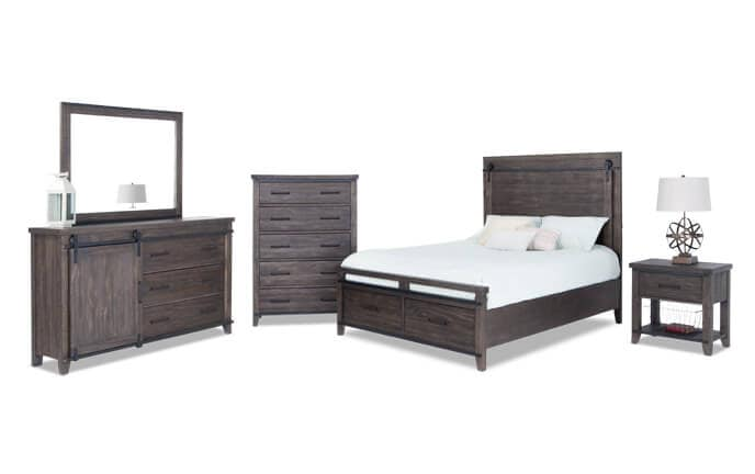 bobs furniture bedroom set montana storage bedroom set bob s furniture 14634