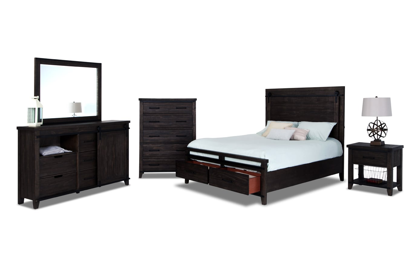 Montana Queen Brown Storage Bedroom Set