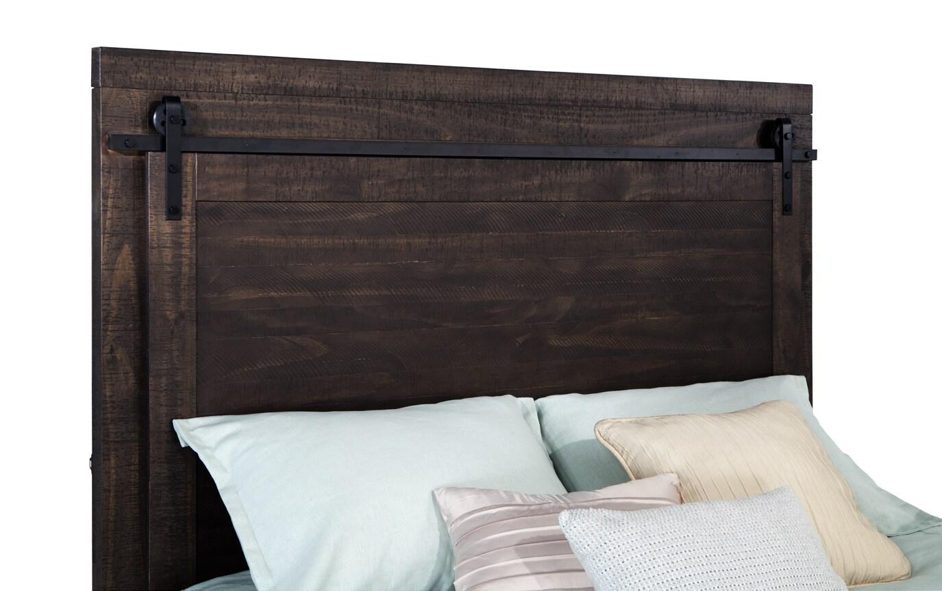 Montana Queen Brown Storage Bed