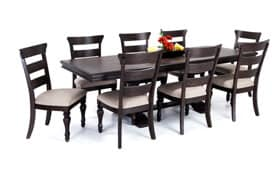 Riverdale 9 Piece Dining Set With Wood Side Chairs