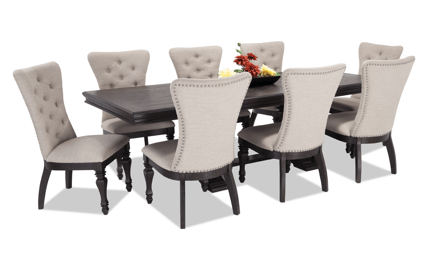 Riverdale 9 Piece Dining Set With Upholstered Chairs Bobs Com