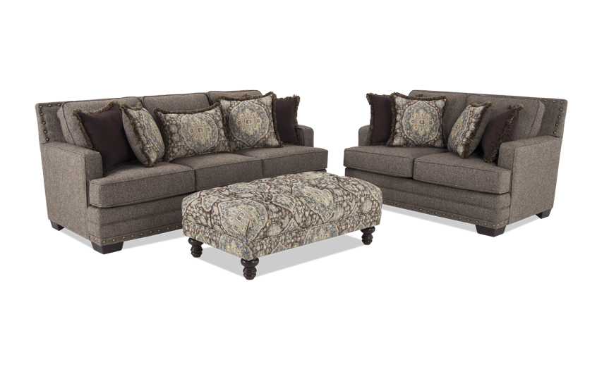 Garden City Sofa & Loveseat with Cocktail Ottoman