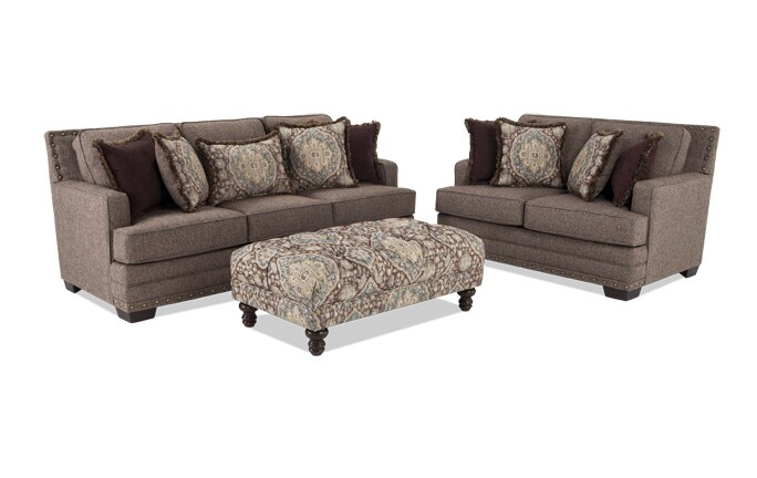 Garden City Sofa & Loveseat with Cocktail Ottoman