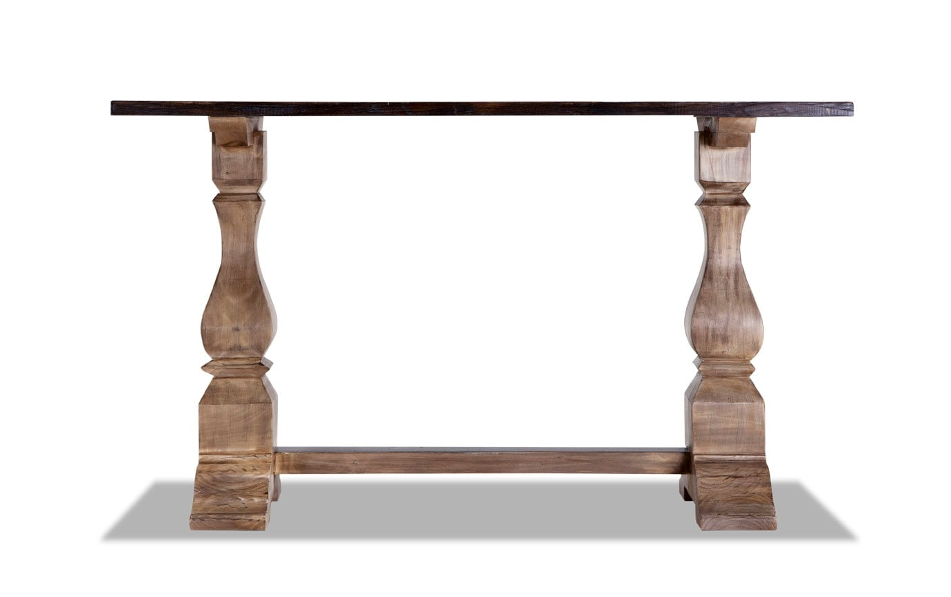Double Pedestal Console Table