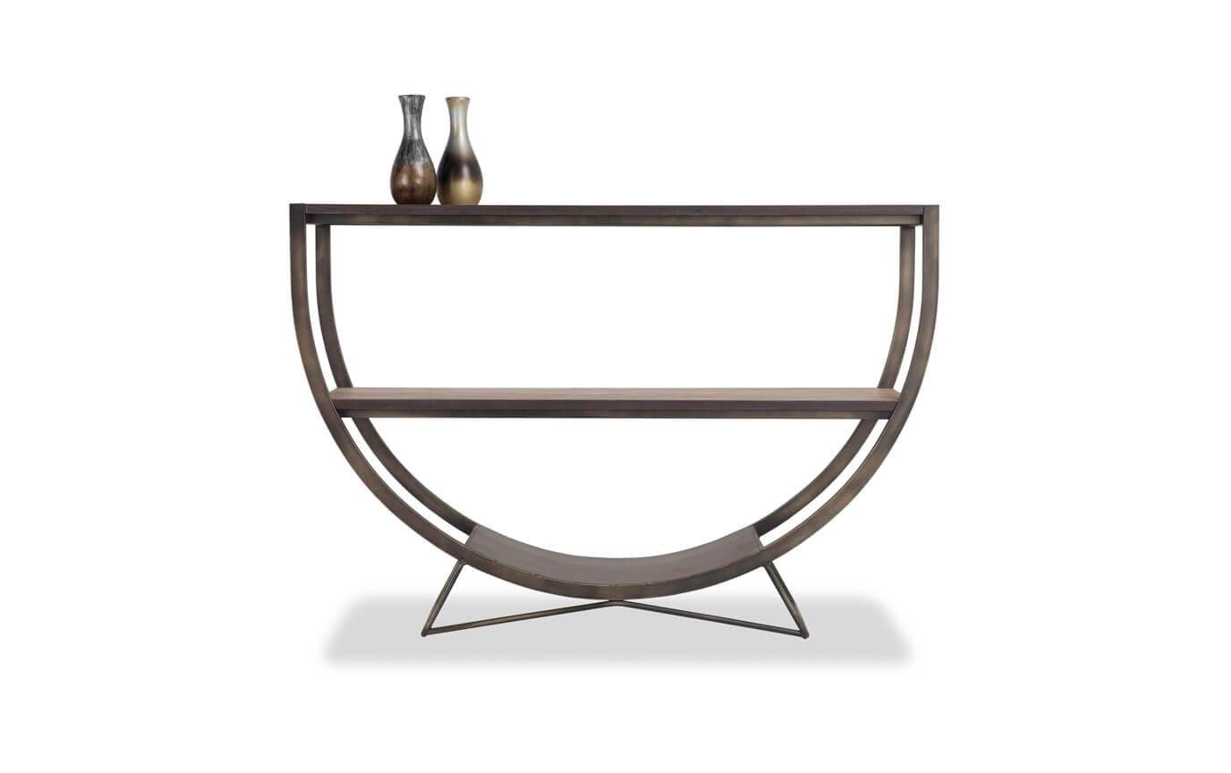 Half Moon Metal Table