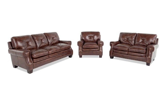 Lawrence Sofa, Loveseat & Chair
