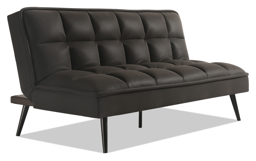 Carly Java BobOMatic Futon Outlet Bobs Discount Furniture