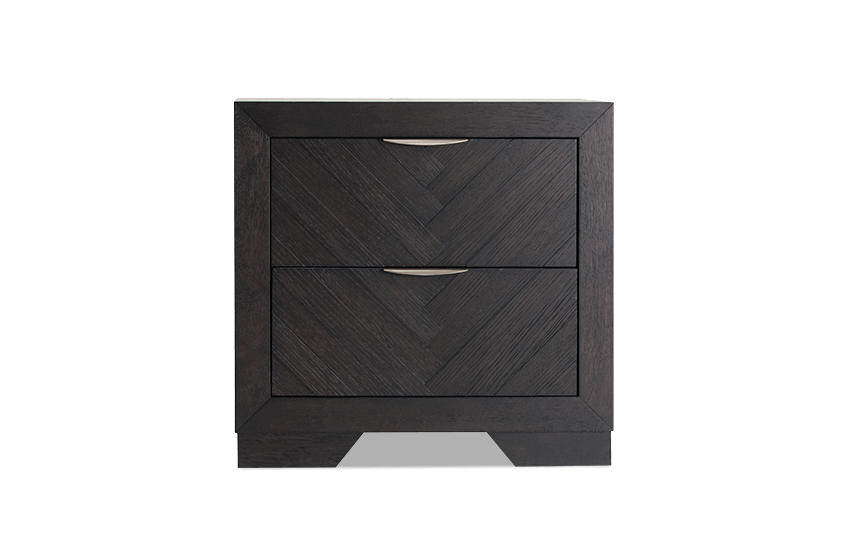 Chevron Dark Oak Nightstand