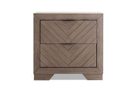 Chevron Gray Nightstand