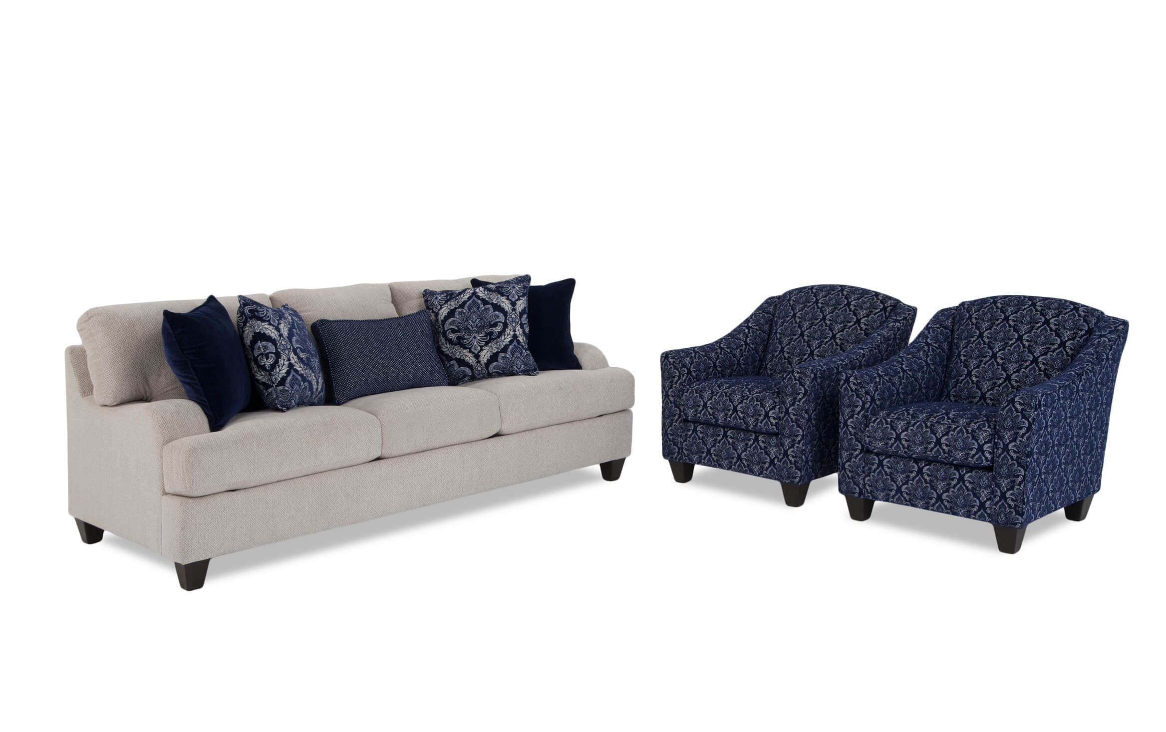 Picture of: Hamptons Sofa 2 Accent Chairs Bobs Com