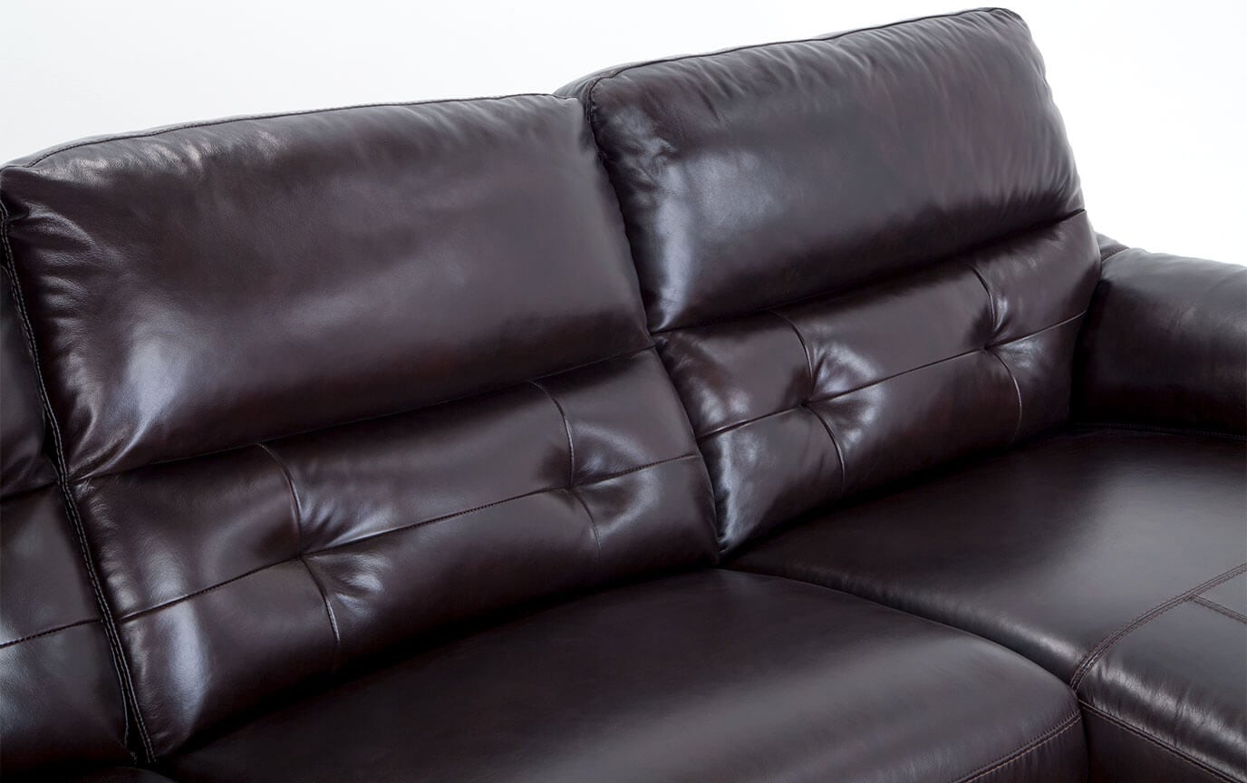 Excalibur Leather Power Reclining 3 Piece Left Arm Facing Sectional