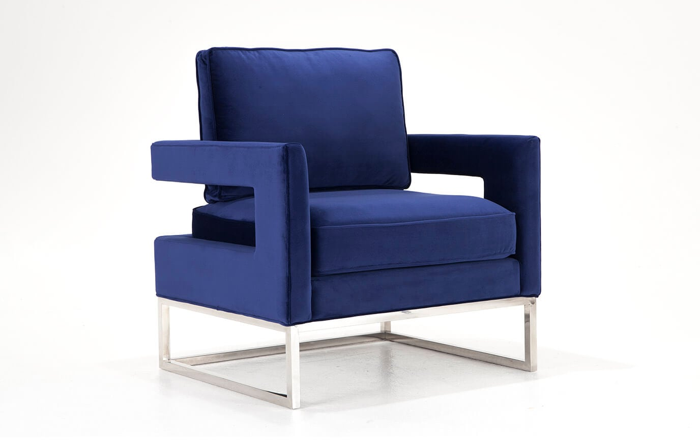 Ava Navy Accent Chair