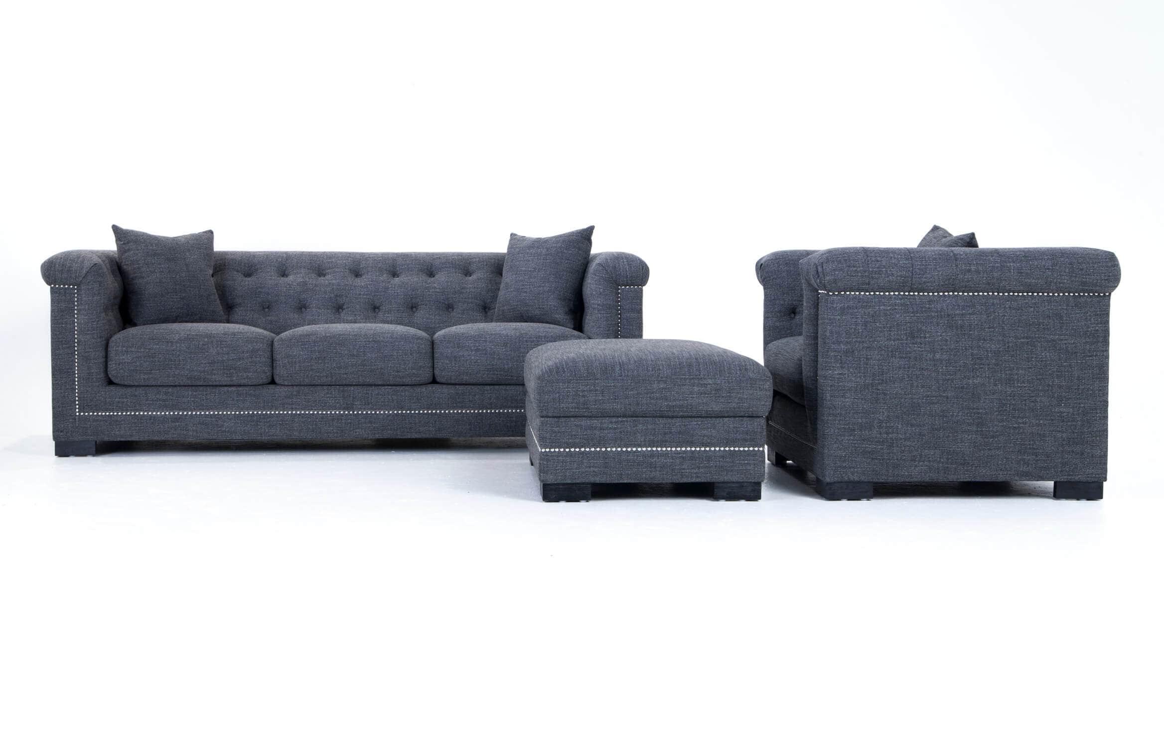 Melrose Sofa Chair Storage Ottoman