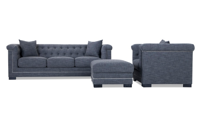 Melrose Sofa, Chair & Storage Ottoman