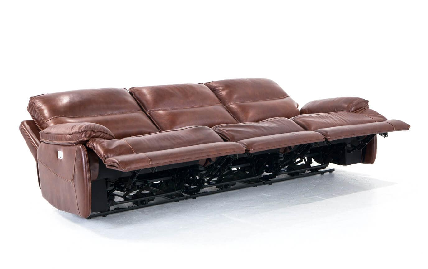Zeus Leather Power Reclining Sofa