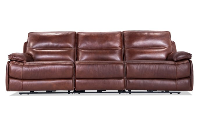 Zeus Leather Power Reclining Sofa