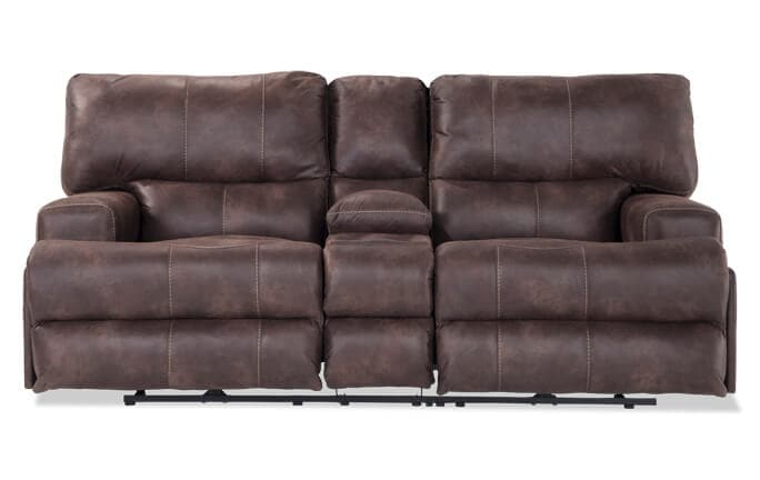 Gibson Power Reclining Console Loveseat
