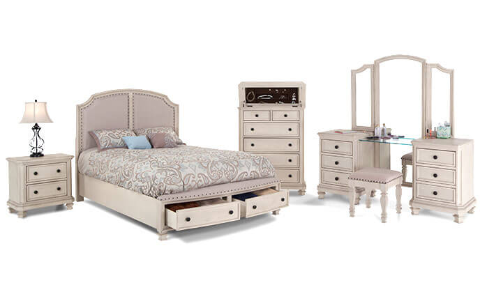 spencer storage bedroom set bob 39 s discount furniture. Black Bedroom Furniture Sets. Home Design Ideas