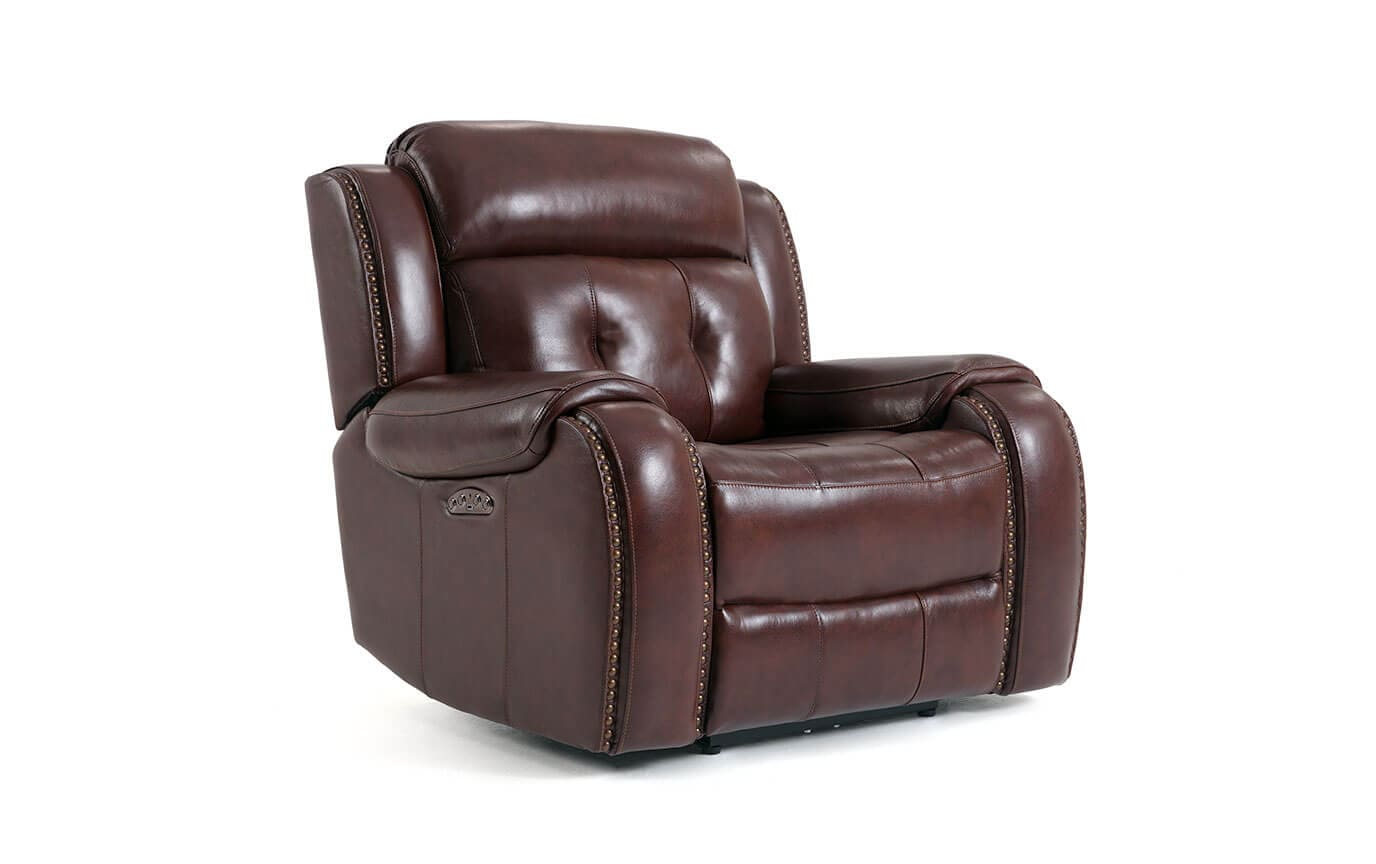 furniture li brown leather hut simon by texas color recliner power