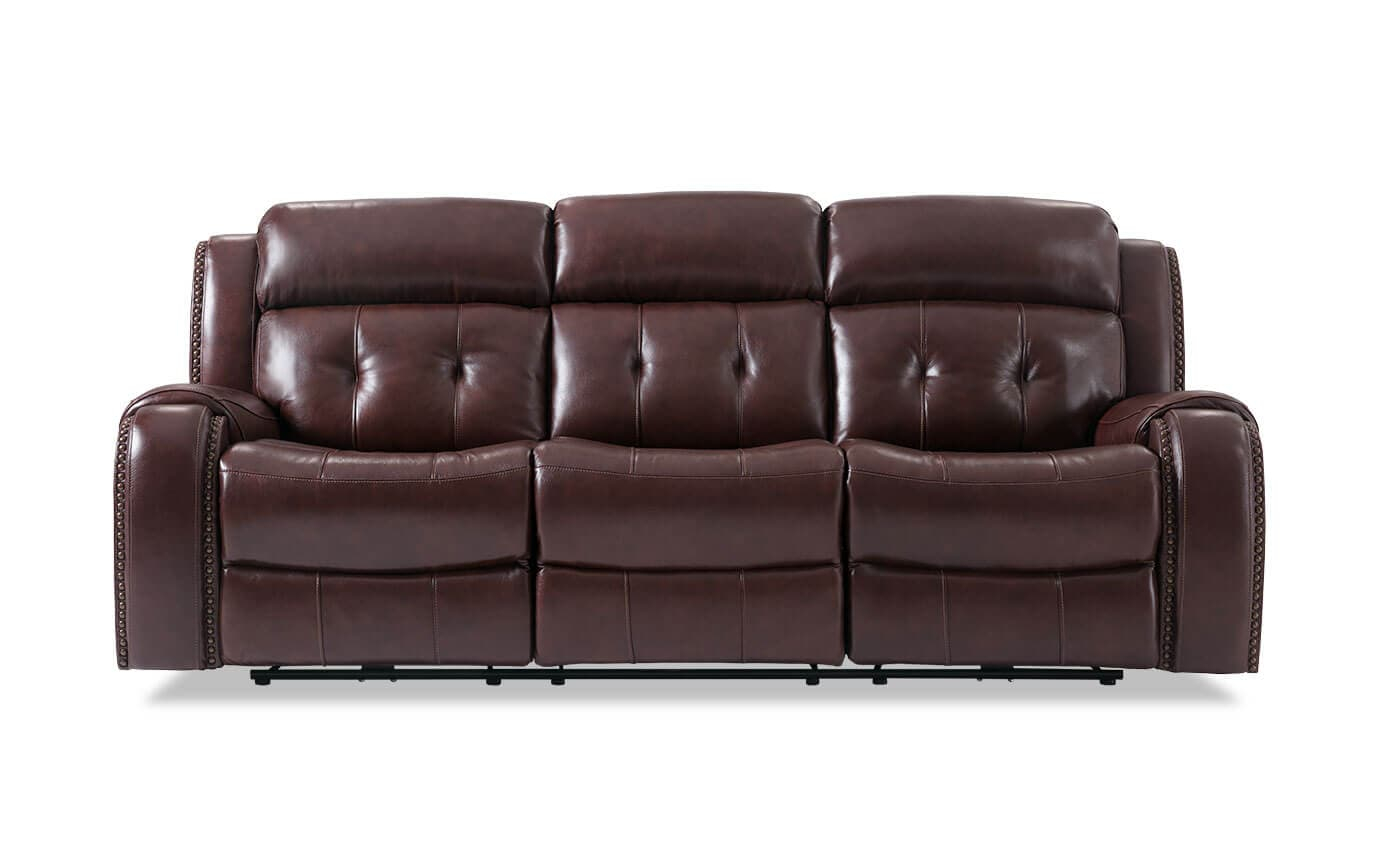 Magellan Power Reclining Leather Sofa  sc 1 st  Bobu0027s Discount Furniture & Magellan Power Reclining Leather Sofa | Bobu0027s Discount Furniture
