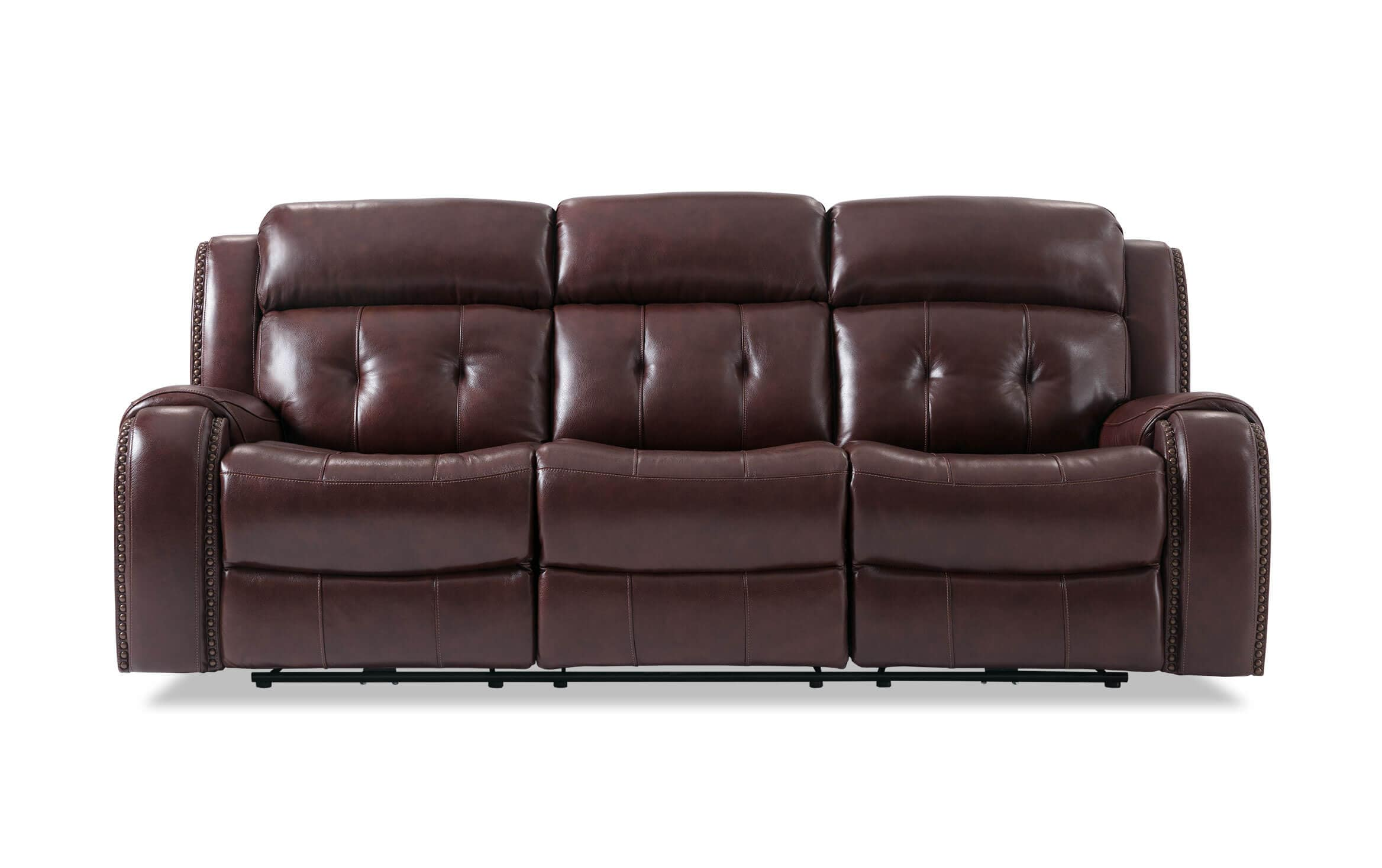 Picture of: Magellan Leather Power Reclining Sofa Bobs Com