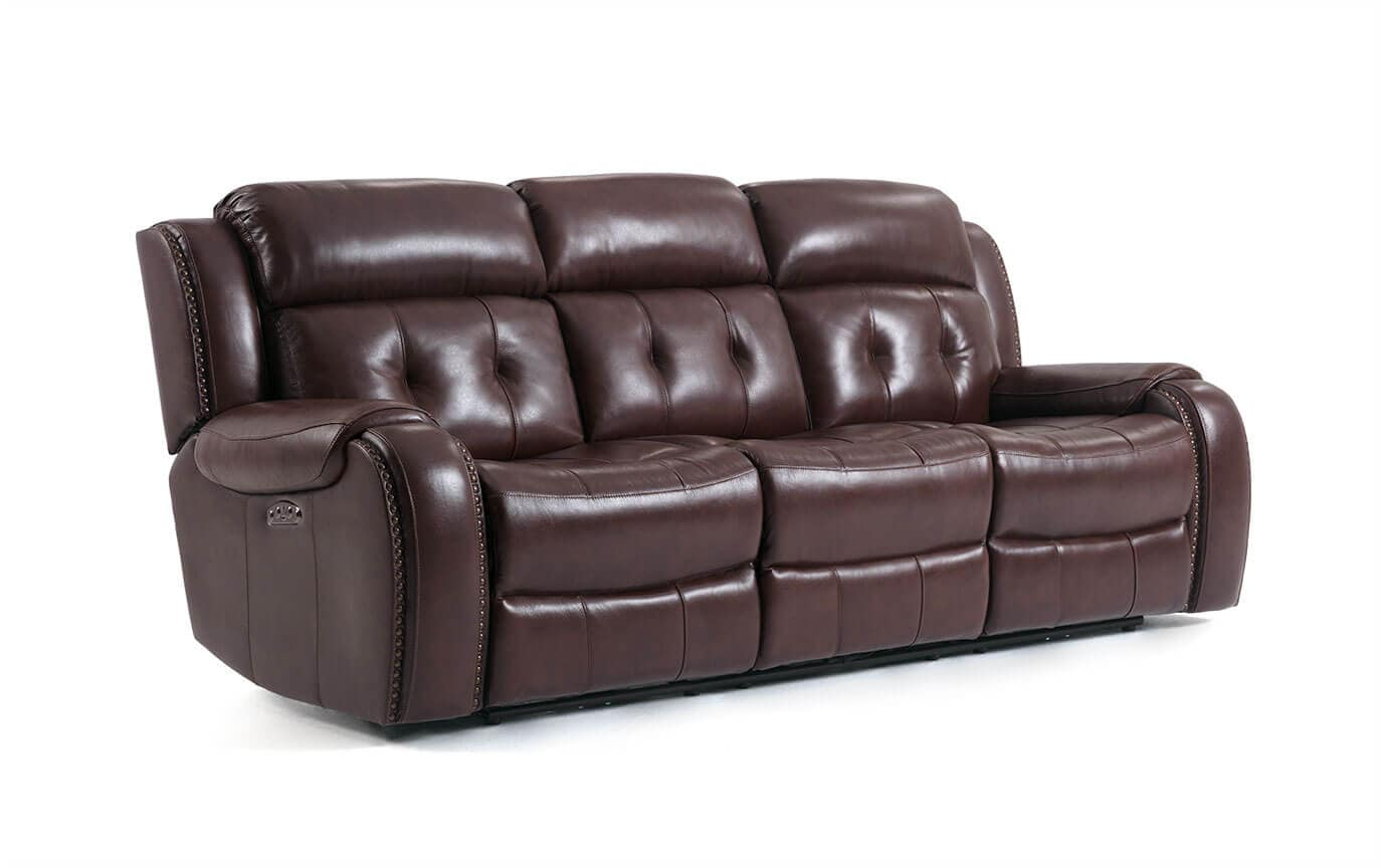 Magellan Power Reclining Leather Sofa & Console Loveseat