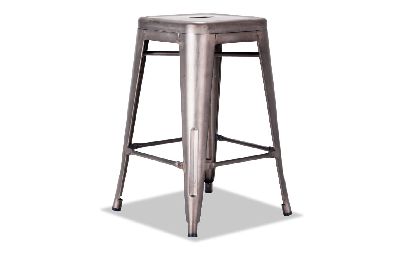 Gun Metal Industrial Stool