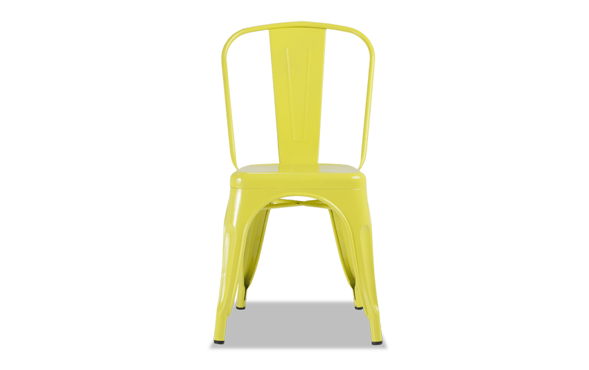 Yellow Metal Industrial Chair