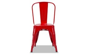 Red Metal Industrial Chair