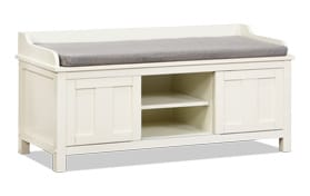 June White Storage Bench