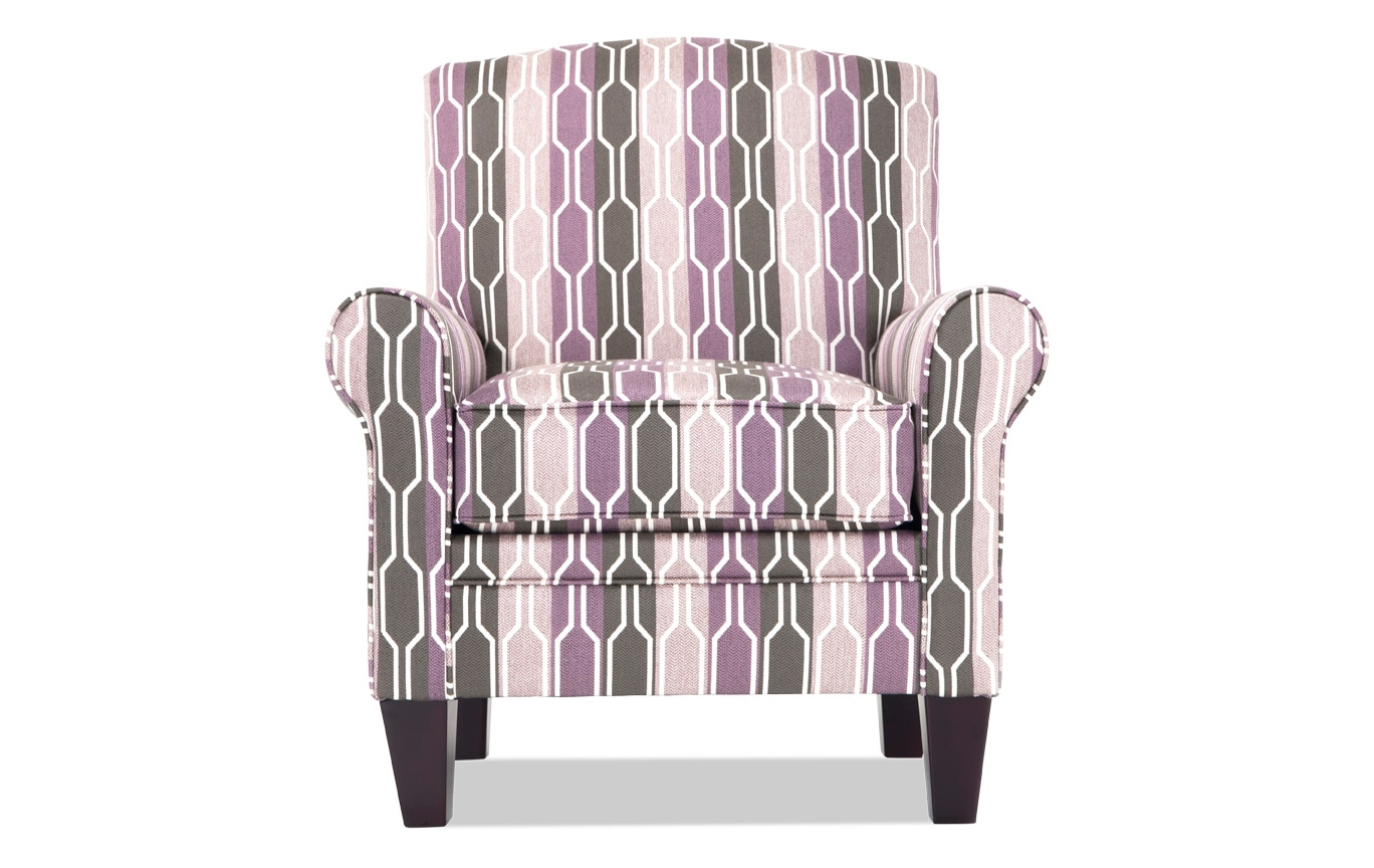 Tory Lilac Accent Chair
