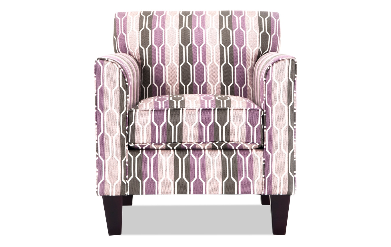 Superieur Clinton Lilac Accent Chair