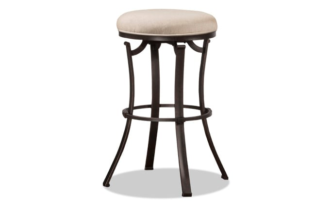 Vince Backless Swivel Stool