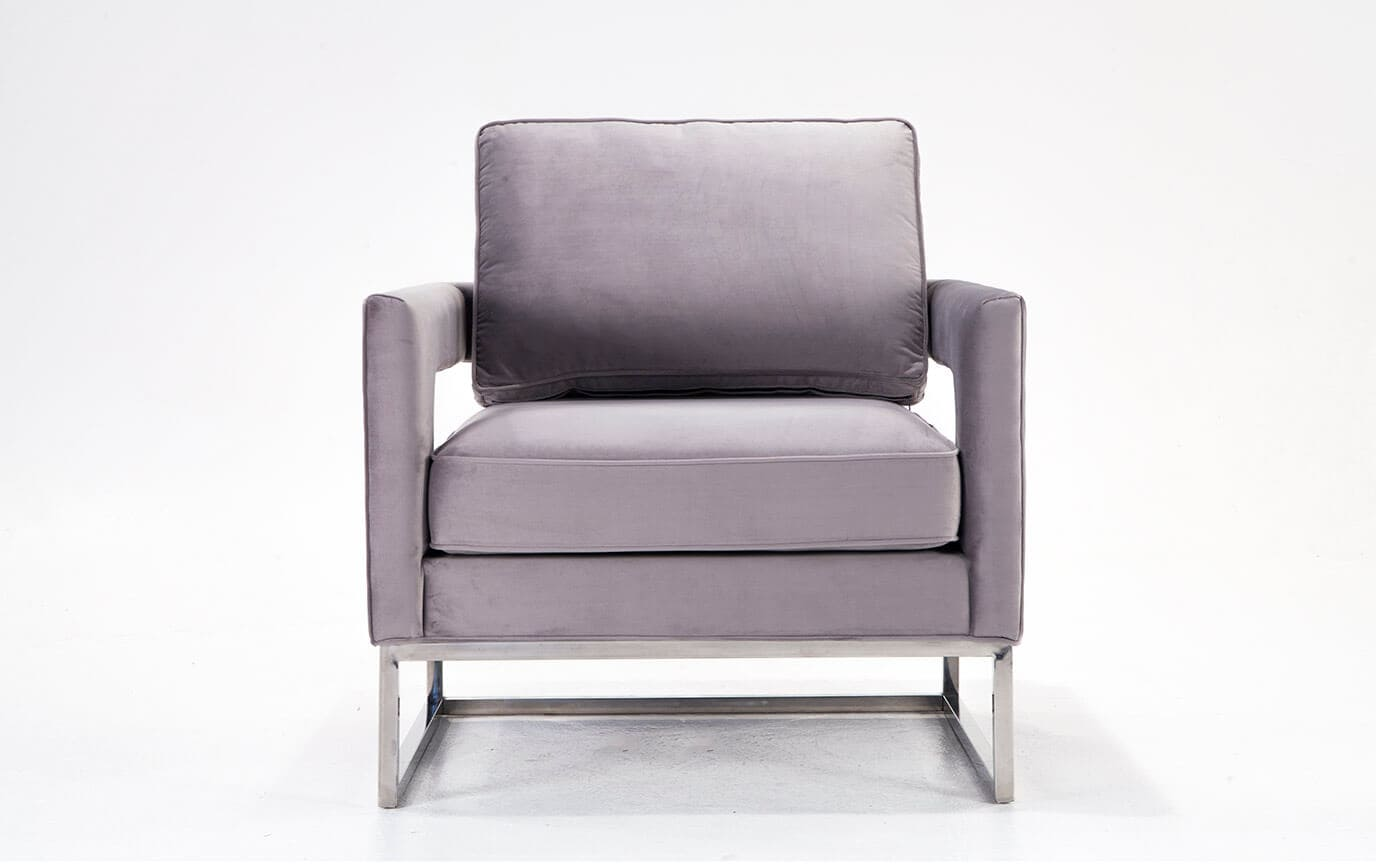 Ava Gray Accent Chair Ava Gray Accent Chair ...