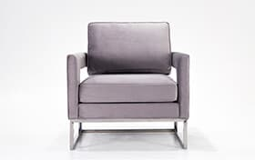 Ava Gray Accent Chair