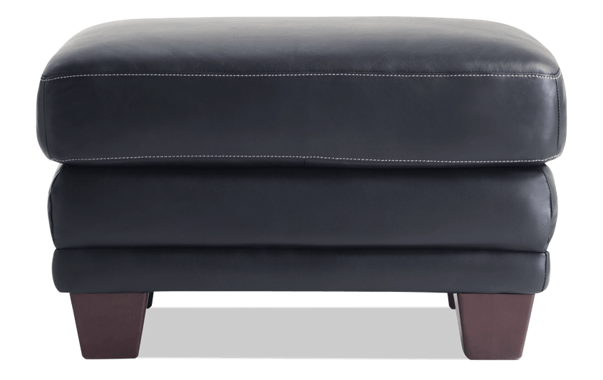 Cole Leather Ottoman