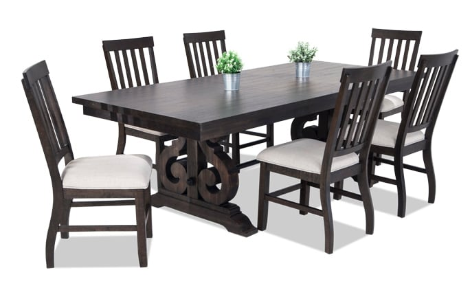 Sanctuary 7 Piece Dining Set With Slat Chairs ...