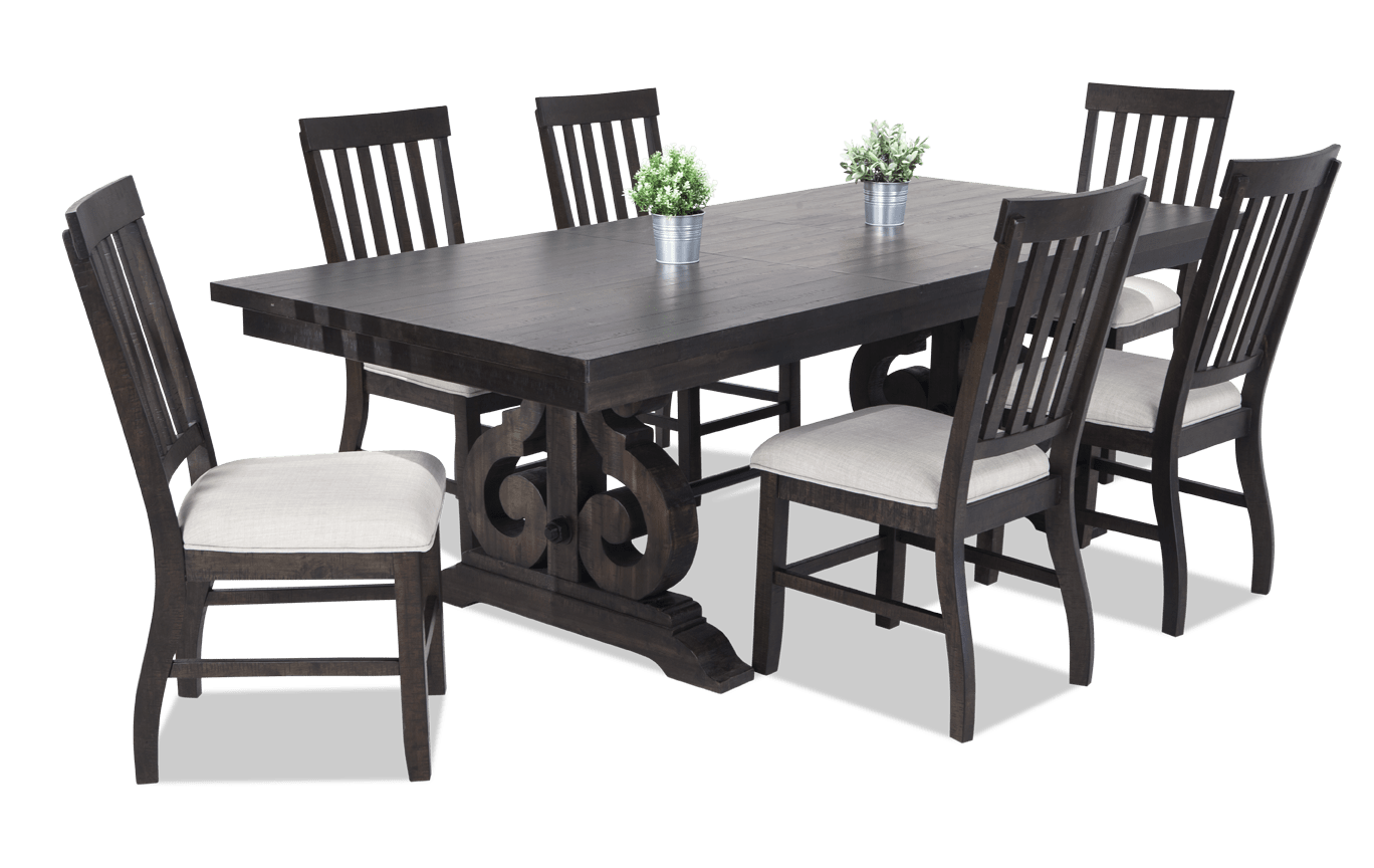 Sanctuary 7 Piece Dining Set With Slat, Bobs Furniture Dining Room