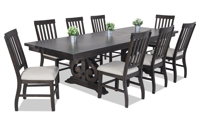 Sanctuary 9 Piece Dining Set With Slat Chairs