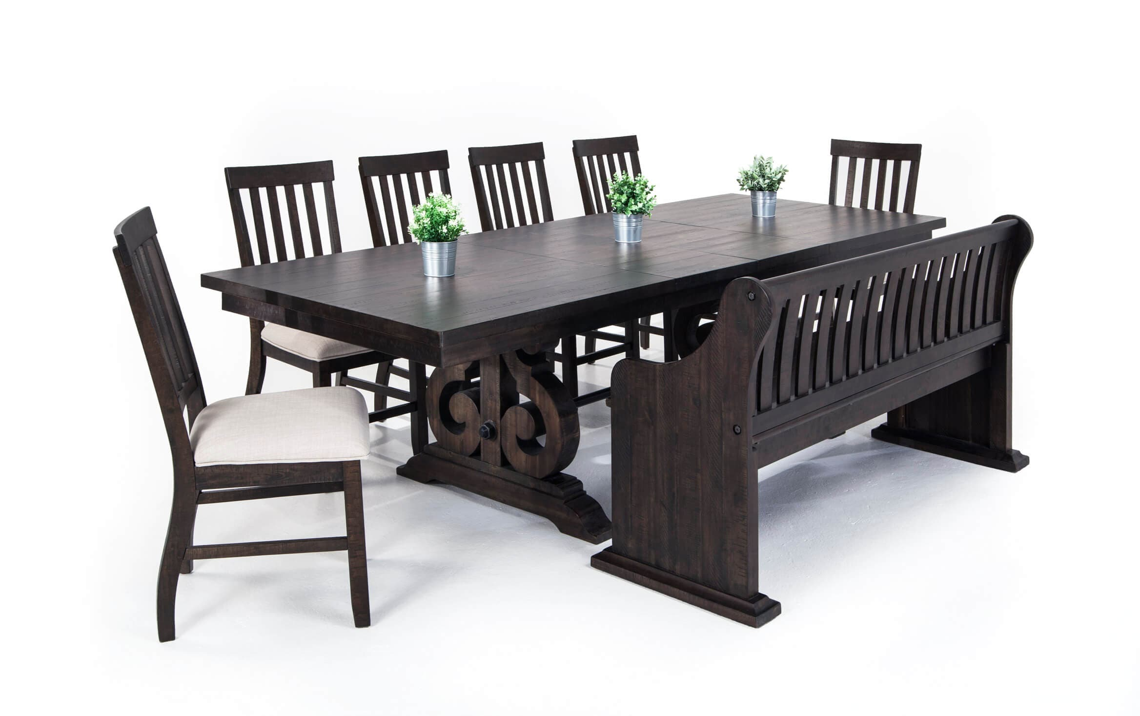 Sanctuary 8 Piece Dining Set With Full